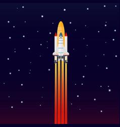 space galaxy rocket spaceship launch vector image