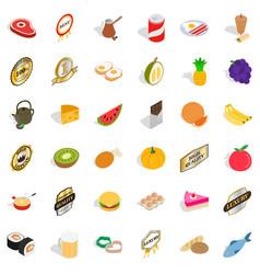 vitamine icons set isometric style vector image vector image