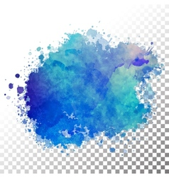 Abstract watercolor painted blot vector image vector image