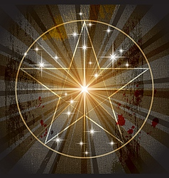 ancient mystic pentagram vector image vector image