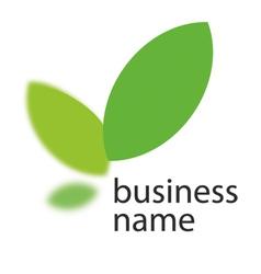 Ecology green logo vector image