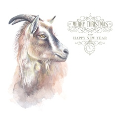 New year goat vector image