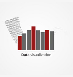 data visualization concept vector image