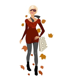elegant autumn girl isolated vector image vector image