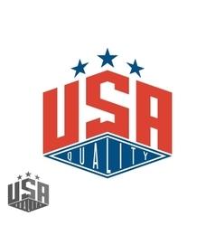 Quality USA logo colored flag of America print vector image vector image