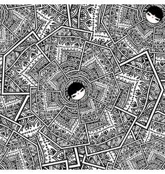 Seamless pattern with Babushka Matryoshka Dolls vector image