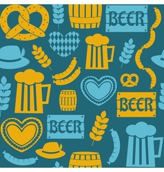 seamless repeat oktoberfest party pattern vector image vector image