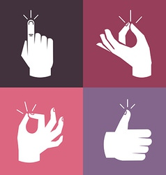 set of hands and gestures vector image vector image