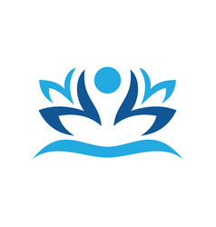 abstract lotus flower logo image vector image
