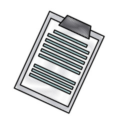clipboard document paper medical image vector image