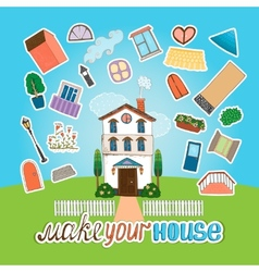 Designer house vector image vector image