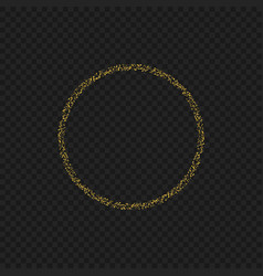 golden sparkles ring vector image vector image