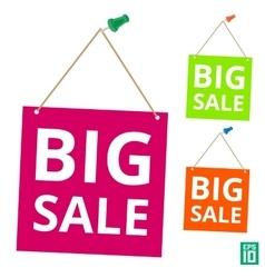 Label big sale pin vector image
