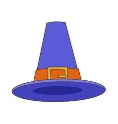 pilgrim blue hat flat icon vector image