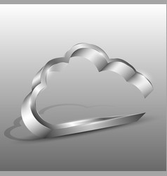 3d of an aluminum cloud icon vector image