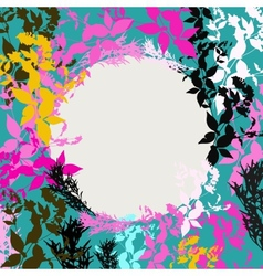 Abstract design with Black Pink Orange Teal vector