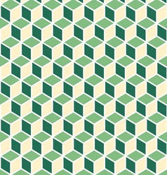Abstract isometric green cube pattern background vector image