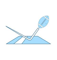 American football touchdown icon vector