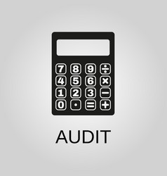 audit icon audit symbol flat design stock vector image