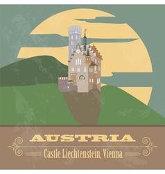 Austria landmarks Retro styled image vector