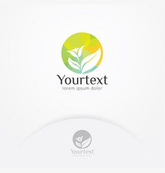 beauty nature care logo vector image