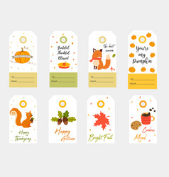 big set tags for autumn joy vector image