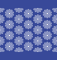 blue circular flowers with a beautiful patterned vector image