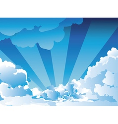 Blue Sky with Clouds5 vector