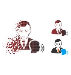 Broken dotted halftone psychotherapist visit icon vector