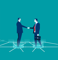 Businessman shaking hands concept business vector