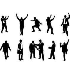 Busniess people silhouettes vector