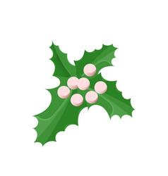 christmas decoration mistletoe isolated vector image