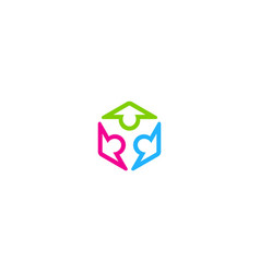circle people colorful diversity group logo vector image