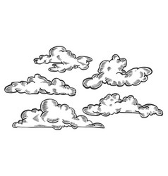 Clouds engraving vector