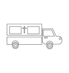 Coffin transport icon outline style vector