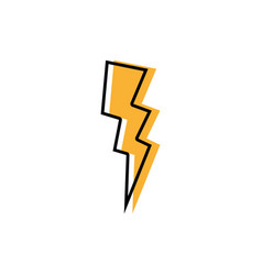 Color thunder weather patch style design vector