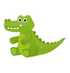 Crocodile cartoon crocodilian character of vector