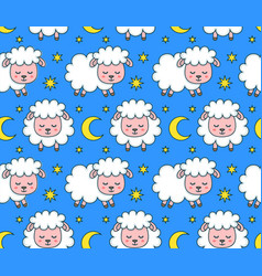 cute smilng funny sleeping sweet dreams vector image