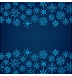 decorative dark background with snowflakes vector image