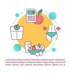 Diet concept icon with text healthy nutrition vector