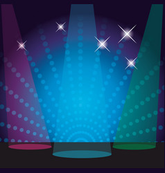 Disco stage scenery vector