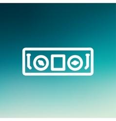 DJ console thin line icon vector image
