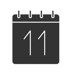 Eleventh day month glyph icon vector
