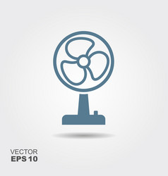 fan icon in flat style isolated on grey background vector image