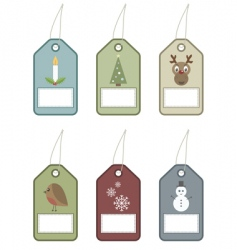 festive tags vector image vector image