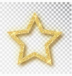 Gold glitter star golden sparkle luxury vector