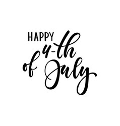 happy 4th july card american independence vector image