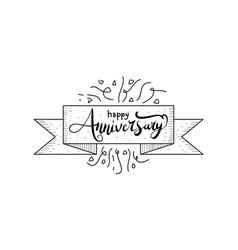 happy anniversary template vector image