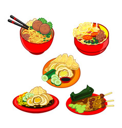 Indonesian traditional culinary vector