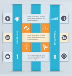 Infographic template with tabs business origami vector